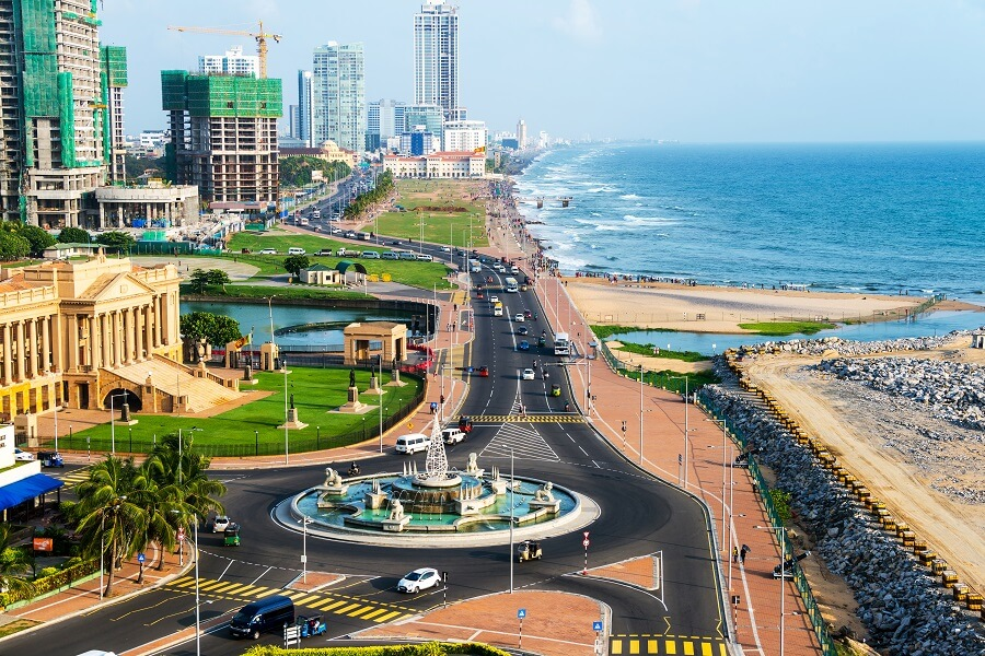 A Scenic Aerial View Of Colombo In Sri Lanka