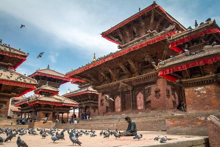 A Serene Temple in Kathmandu, Nepal