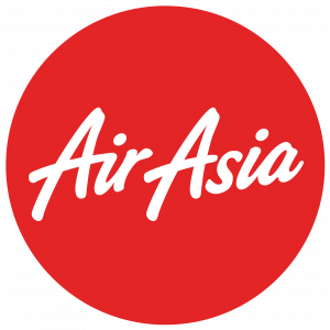 Logo of Air Asia Airlines, trusted partner of Asia Vacation Group