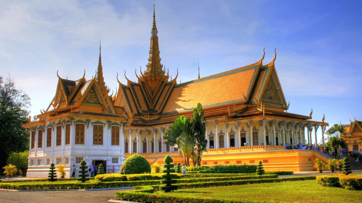 Royal palace is included in Cambodia tours offered by Asia Vacation Group.