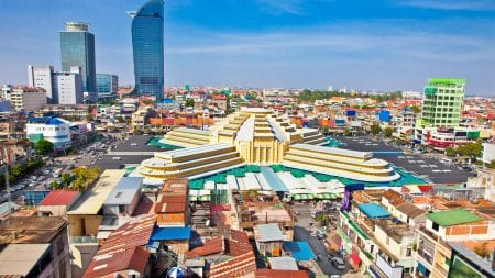 Central market is included in Cambodia tours offered by Asia Vacation Group.