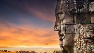 Bayon_stone_faces-Siem_Reap-Cambodia is included in Cambodia tours offered by Asia Vacation Group.