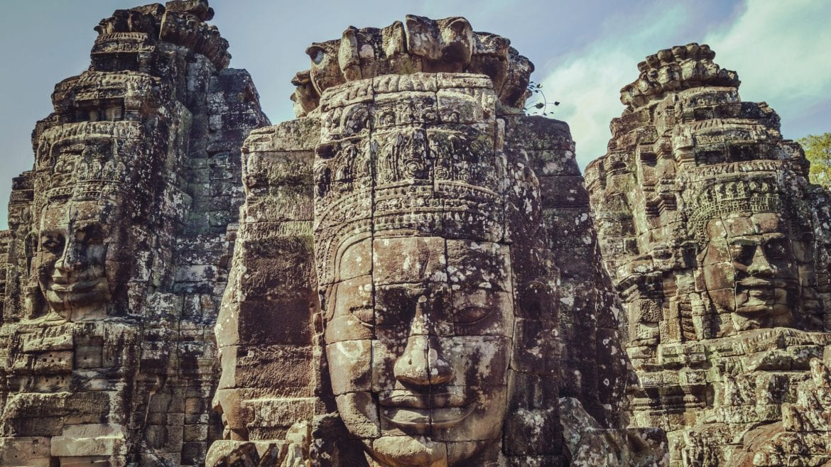 Bayon Temple, Siem Reap, Cambodia is included in Cambodia tours offered by Asia Vacation Group.