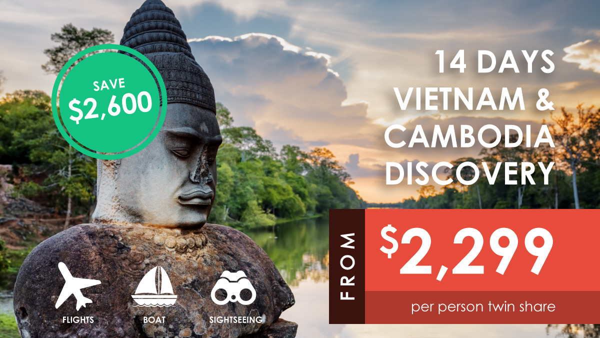 14 Day Vietnam Cambodia Tour from $2299 per person twin share by Asia Vacation Group