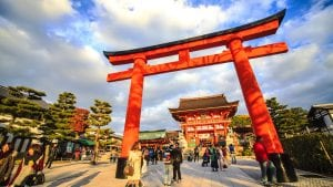 Kyoto Shrine gate is included in Japan tours offered by Asia Vacation Group.