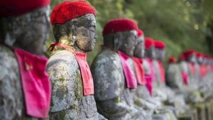 Nikko's Narabi Jizo Statues is included in Japan tours offered by Asia Vacation Group.