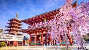 Sensoji Tepmle in Tokyo, Japan, included tours offered by Asia Vacation Group