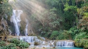 KhuangSi waterfall in Luang Prabang, Laos