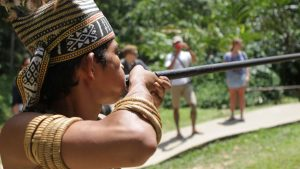 Kota Kinabalu Mari Cultural village native, included in tours offered by Asia Vacation Group