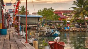Floating Village Of Clan Jetties in Georgetown, Penang, Malaysia, included in tours offered by Asia Vacation Group