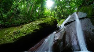 waterfall in Poring hot spring, Malaysia, included in tours offered by Asia Vacation Group