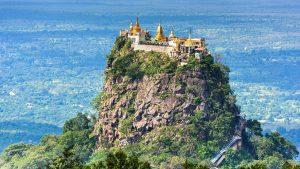 Mt Popa in Bagan, Myanmar