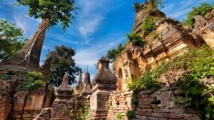 Shwe Indein pagoda in Inle Lake, Myanmar, included in tours offered by Asia Vacation Group