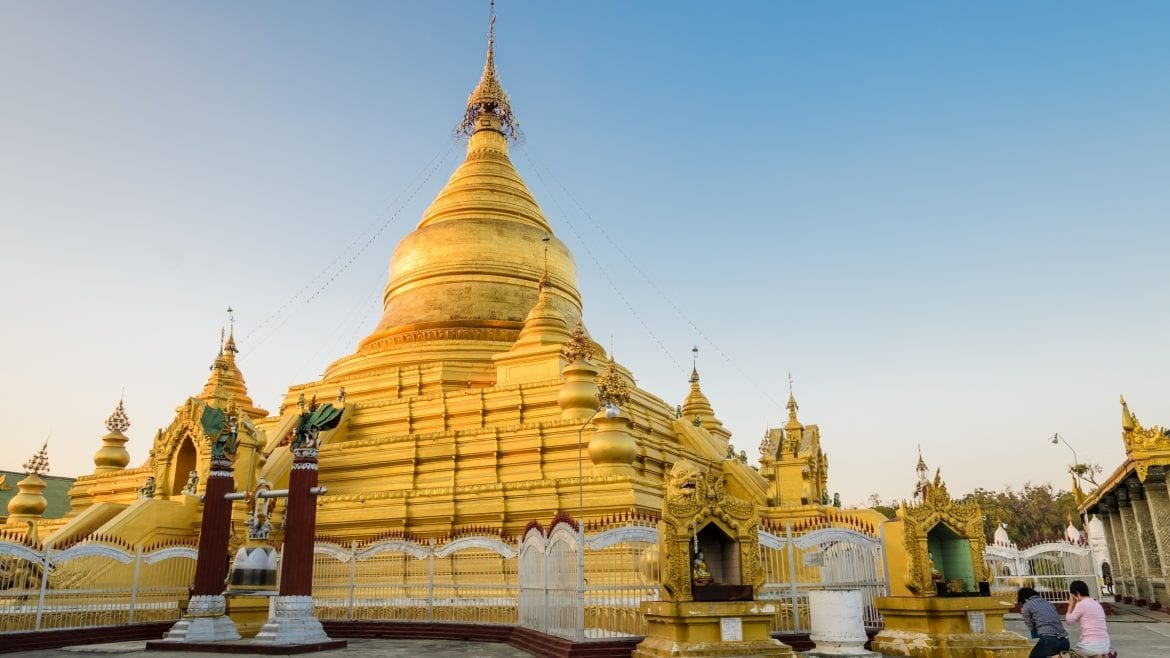 Kuthodaw Pagoda in Mandalay, Myanmar, included in tours offered by Asia Vacation Group