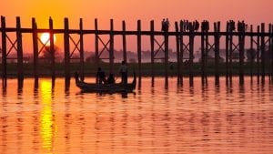 U bein bridge is included in Myanmar tours offered by Asia Vacation Group.