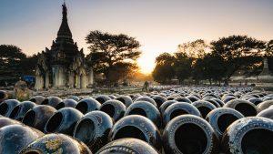 Poterry Field in Yandabo Village, Myanmar