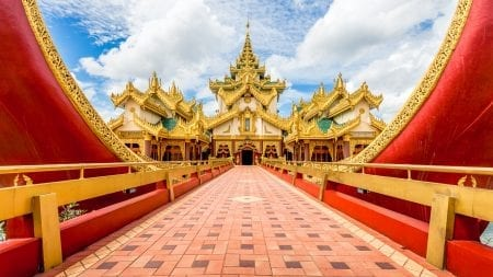 Karaweik Palace in Yangon is included in Myanmar tours offered by Asia Vacation Group.