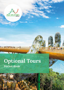 Cover of pocketbook for optional tours offered by Asia Vacation Group