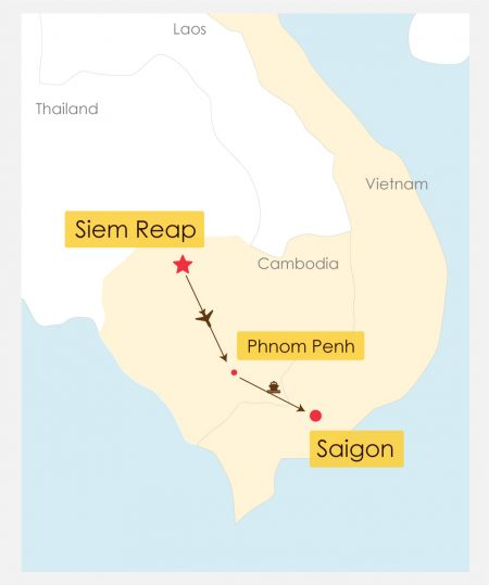 12 Day Mekong River Cruise With Siem Reap Itinerary Map