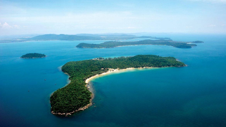 Koh Russei Island Aerial view in Cambodia