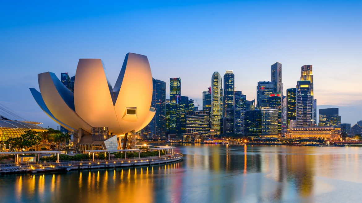 Marina Bay Twilight in Singapore