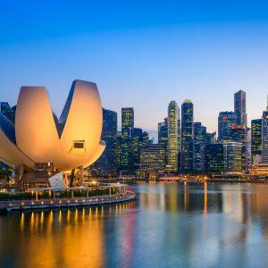Marina Bay Twilight in Singapore