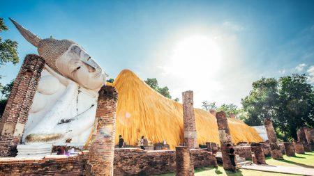 Buddha Statue At Ayutthaya Historical Park in Ayutthaya, Thailand