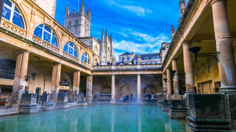 Roman bath in Bath, United Kingdom