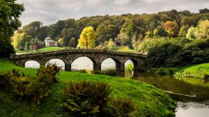 Stone Bridge in Stourhead Garden, United Kingdom