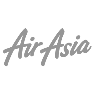 Logo of Air Asia, a trusted partner of Asia Vacation Group