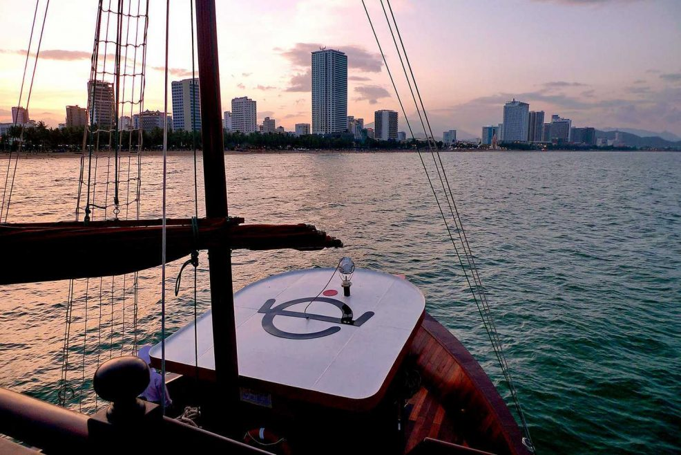 Sunset in Nha Trang from Emperor Cruise in Nha Trang, a trusted partner of Asia Vacation Group