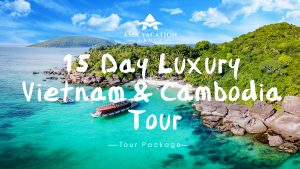 Video poster for intro video of 15 Day Luxury Vietnam and Cambodia Tour