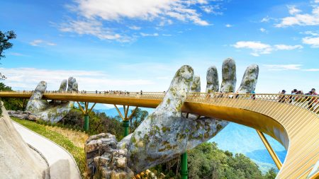 Golden Bridge on Ba Na Hill, Da Nang, Vietnam