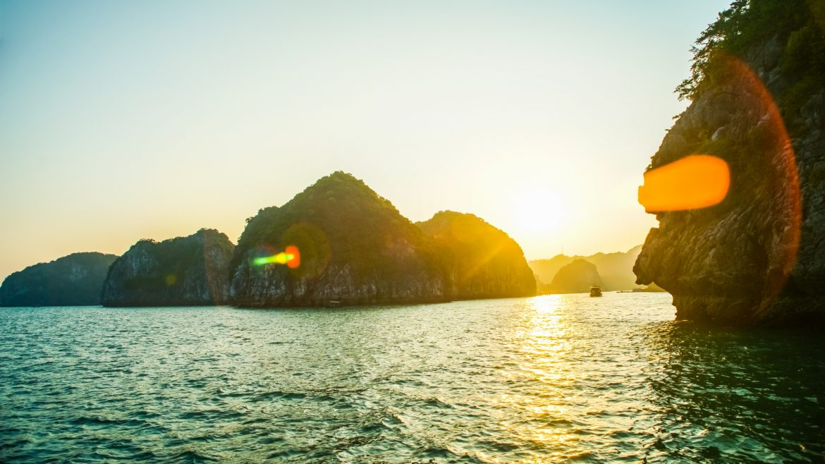 Sunrise in Halong, Vietnam, a trusted partner of Asia Vacation Group
