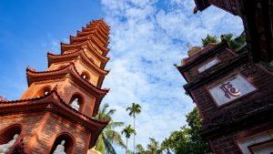 Tran Quoc Pagoda in Hanoi, VIetnam, included in tours offered with Asia Vacation Group
