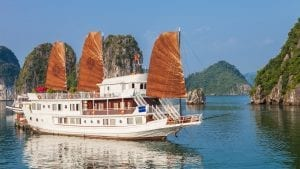 Halong bay Cruise ship, Vietnam, included in tours offered by Asia Vacation Group