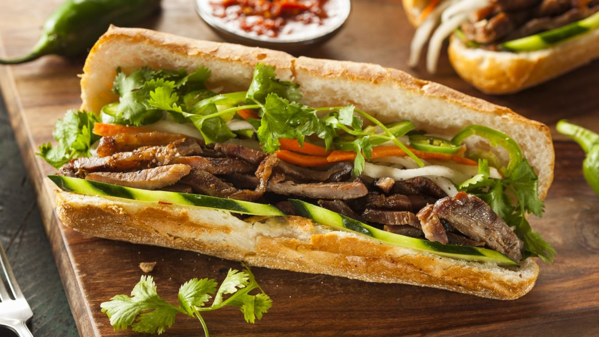 Hanoi Food banh mi, included in tours offered with Asia Vacation Group