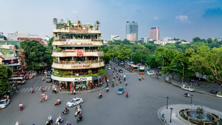 Hanoi Hoan kiem lake shark junction, included in tours offered by Asia Vacation Group