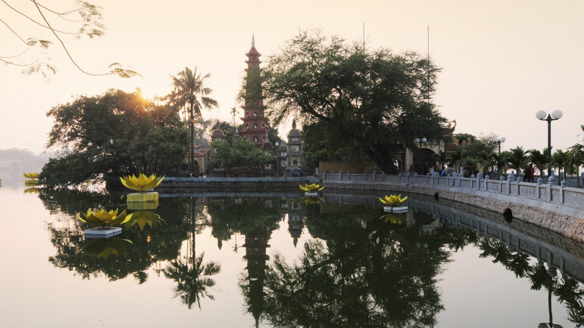 Hanoi Tran Quoc pagoda, included in tours offered by Asia Vacation Group