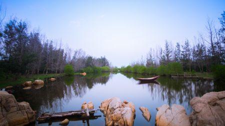 Lake in Ho Tram, Vietnam
