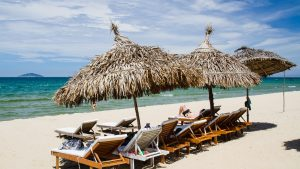 Beach side at Hoi An, Vietnam, included in tours offered by Asia Vacation Group