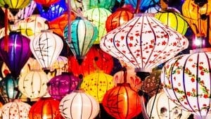Hoi an Latterns lights, Vietnam, included in tours offered by Asia Vacation Group