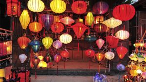 Hoian Lantern shop, Vietnam, included in tours offered by Asia Vacation Group