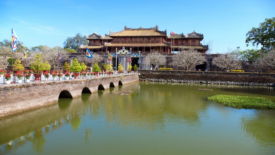Hue Imperial citadel, Vietnam, included in tours offered by Asia Vacation Group