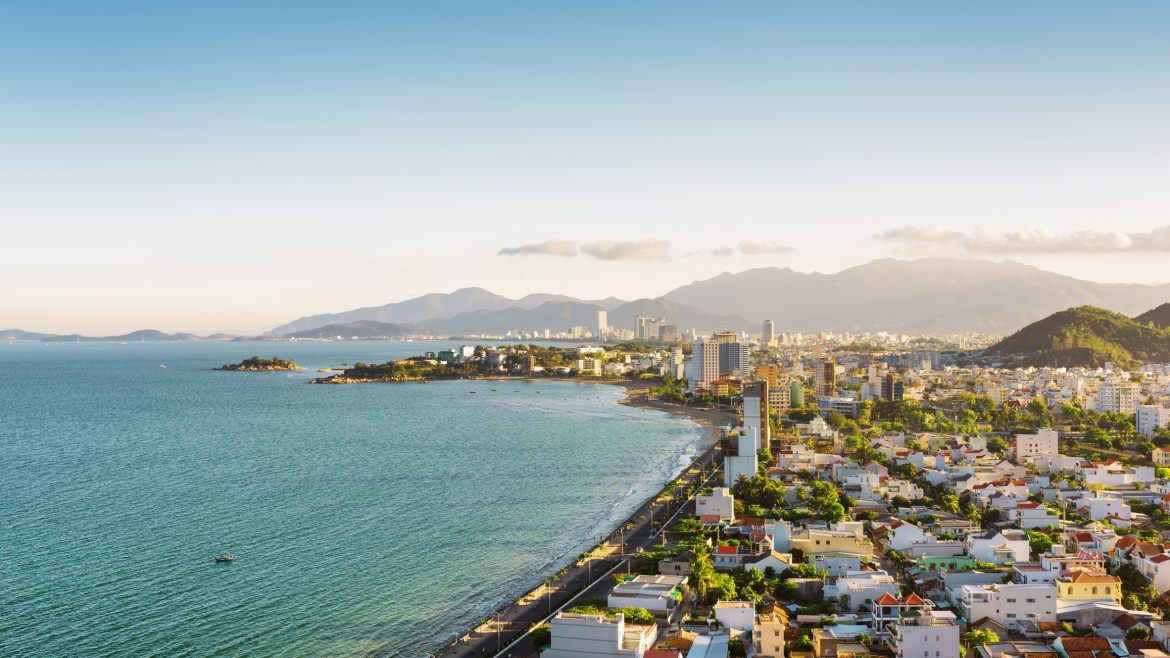 Nha Trang Beach city, Vietnam, included in tours offered by Asia Vacation Group