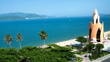 Nha Trang beach, Vietnam, included in tours offered by Asia Vacation Group