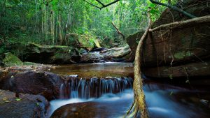 Tranh Waterfall in Phu Quoc, Vietnam, included in tours offered by Asia Vacation Group