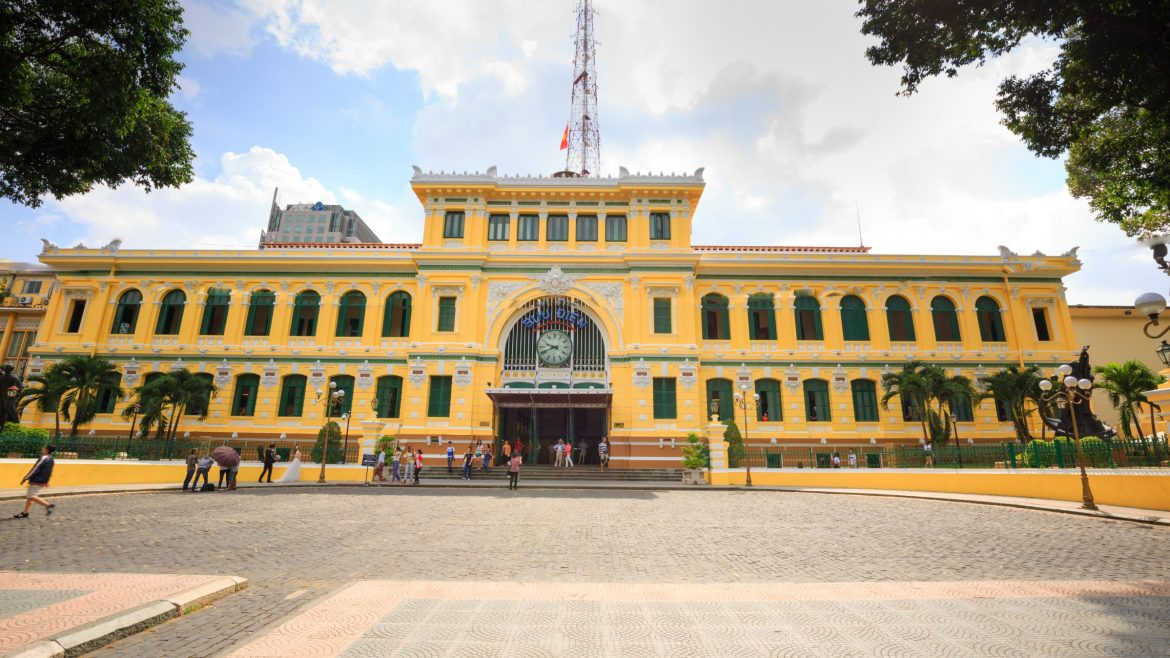 Sai Gon Central Post Office, included in tours offered by Asia Vacation Group