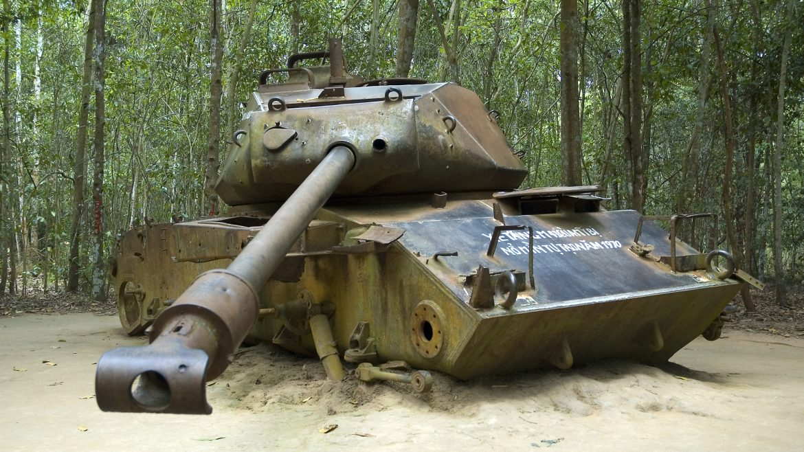Cu Chi tank, Sai Gon, Vietnam, included in tours offered by Asia Vacation Group