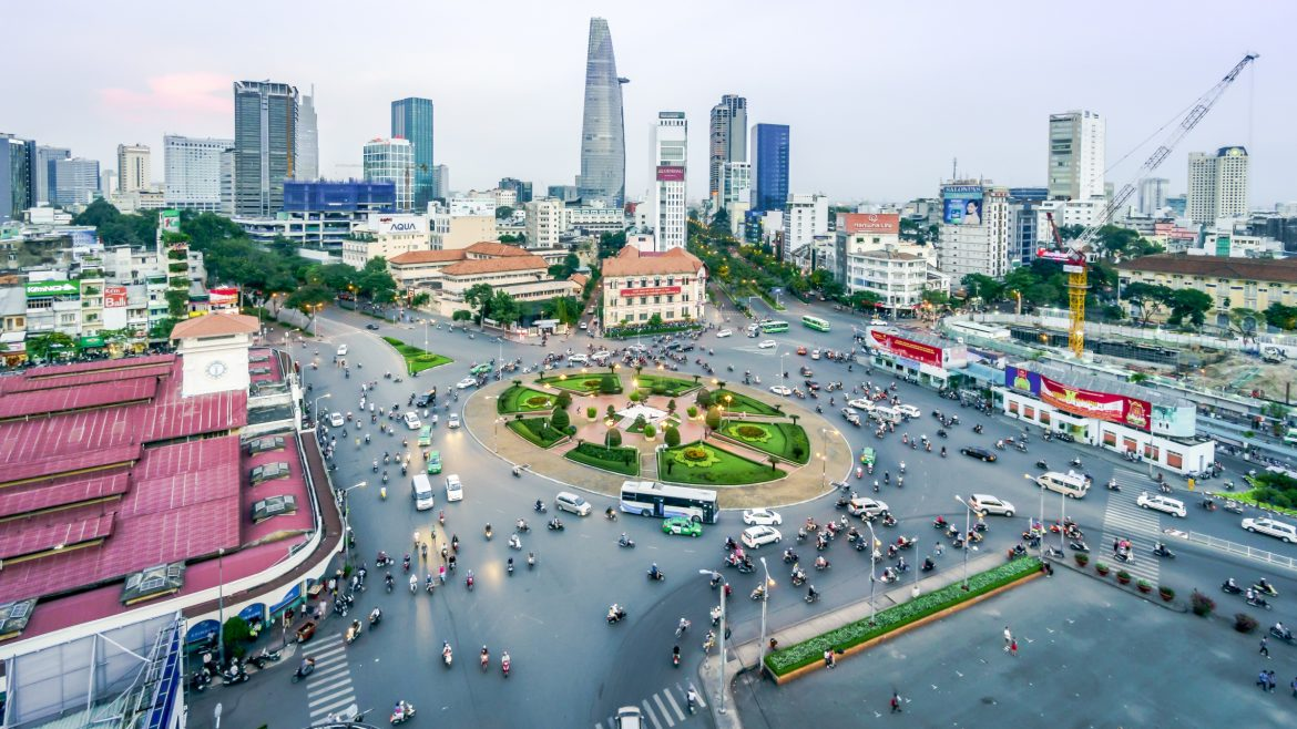 Street rush hour, Sai Gon, Vietnam, included in tours offered by Asia Vacation Group